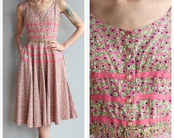 1950s Dress // Southern Charm Floral Dress // vintage 50s dress