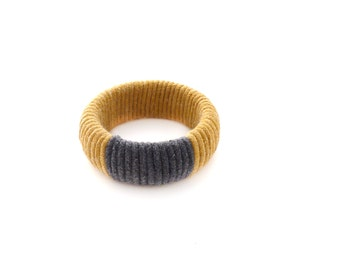 Mojave Stripe Bangle Golden Ochre + Graphite