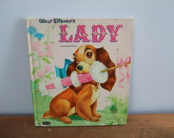 Walt Disney's Lady Vintage Whitman Tell-A-Tale Book