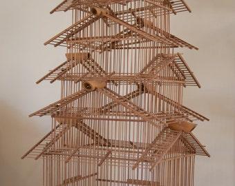 Unique Vintage Japanese Birdcage!