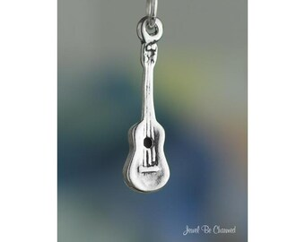Ukulele Charm Sterling Silver Uke Hawaii Instrument Music 3D Solid 925