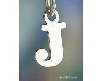 Sterling Silver Small Letter J Charm Initial Capital Letters Solid 925