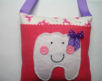 Girls Tooth Fairy Pillow Little Unicorns