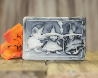 three silly witches soap glycerin soap scented in witches brew