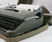 Vintage Olympia Typewriter with Case,  Olympia Werke made in Germany
