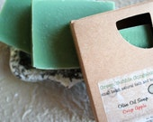 Olive Oil Soap, Crisp Apple, 4.5 oz., FREE SHIPPING, made with organic oils  by Green Bubble Gorgeous on etsy