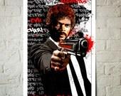 Fan art illustration of Samuel L Jackson, Art Print, Pop Art illustration, Dorm Decor, Geekery Art, Movie Poster, Movie Star Celebrity art