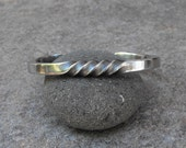 Spiral Cuff Bracelet, Industrial Jewelry, Stainless Steel Cuff Bracelets, Twisted Cuffs, Rugged Wear, Men's Bracelets, Artisan Jewelry