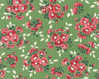 Bread 'n Butter - Dotted Daisy in Green by American Jane for Moda Fabrics