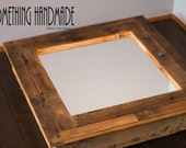 Recessed barn wood Medicine  cabinet with mirror made from 1892  barn wood