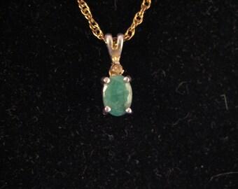 Jade Necklace with Diamond