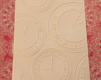 10 Clocks Embossed Cardstocks - Choose your color