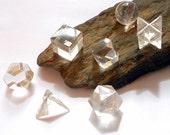 Clear Quartz Sacred Geometry Platonic Solids Set Reiki Crystal