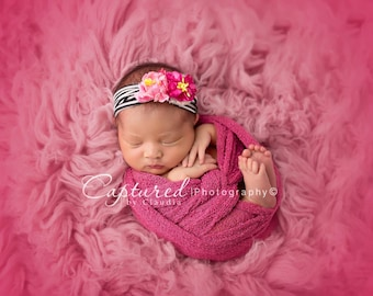 Leighton Heritage Newborn Stretch Wrap IN STOCK and Ready to Ship Super Stretch Knit Soft Swaddle Photography Prop Girly Pink Posing Layer