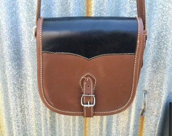 Black and brown Southwest style small purse