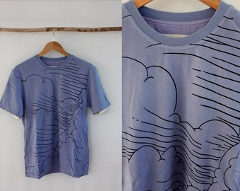 Norsea Industries Printed Reversible Cloud Stripe T shirt Size M