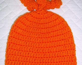 Hat Crochet Beanie FREE SHIPPING Kids 3-10 years old Orange