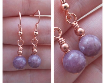 Lepidolite Earrings