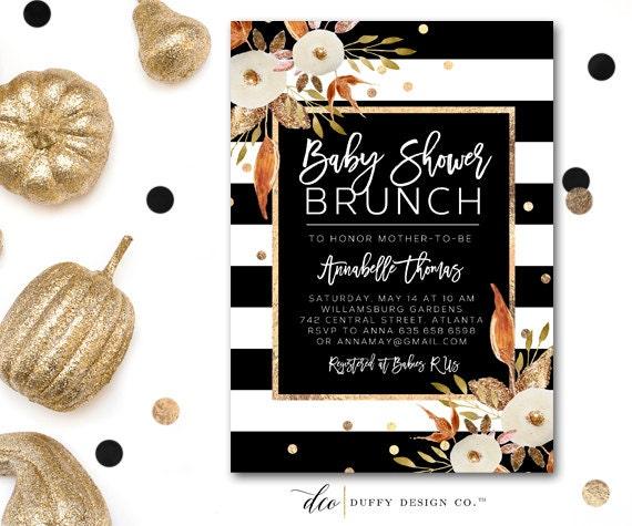 fall baby shower invitation baby shower brunch invite baby shower
