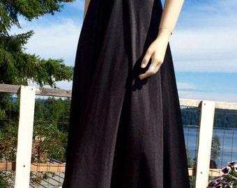 Vintage 70s BLACK Sexy Nightgown ML