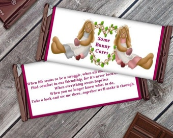 Inspiration Friend Bunny Candy Bar (assembled with candy)