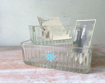 Pair of Vintage Glass Refrigerator Dishes