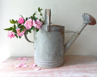 Rustic Vintage Willow Watering Can - Rustic Decor