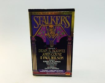 Vintage Horror Book Stalkers 1992 Paperback Anthology