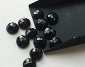 ON SALE 51% Black Onyx Cabochon, Black Onyx Gems, Onyx RoseCut Gemstones, Onyx Flat Cabochons, Black Onyx Round, 8mm Each, 20 Pieces