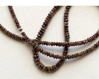 55% ON SALE 10 Beads Brown Diamonds - Faceted Diamond Beads - Conflict Free Diamonds - Rough Diamonds Approx 3mm Each