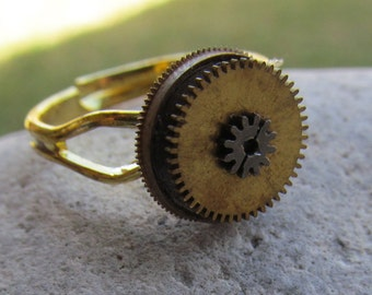 Simple Steampunk Watch Part Ring  R 47