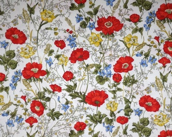 Delicate Posey Floral Print Pure Cotton Fabric--One Yard