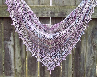 Elegant lace Elise shawl in pure linen - Seaside Summer