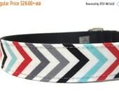 ON SALE Dog Collar- Chevron Stripe Dog Collar
