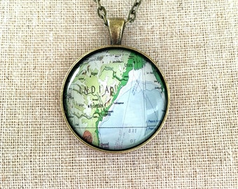India Travel World Map Necklace Wanderlust Unique Gift for Traveler Globe Fathers Day