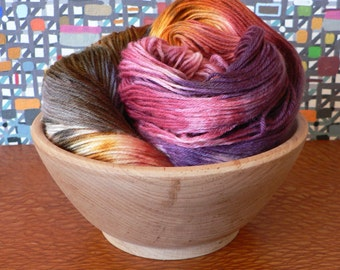 Hand Dyed Fingering Weight Superwash Merino Nylon Sock Yarn- Colors of the Wind 462 yards