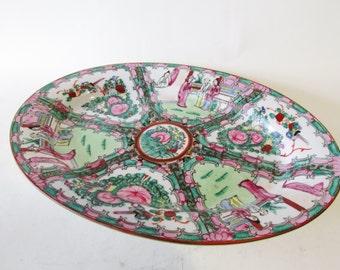 Chinoiserie Platter, Rose Medallion Tray
