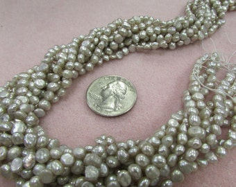 Silver Taupe 4mm Freshwater Pearls