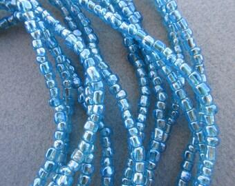 Blue Glass Beads -6 Strands
