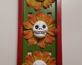 Flower Sisters Skullies Colorful Shrine Shadow Box