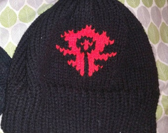 Warcraft Horde knit hat