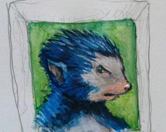 Quick painting: Sonic
