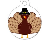 Pet ID Tag - Thanksgiving Turkey Pet Tag, Dog Tag, Cat Tag