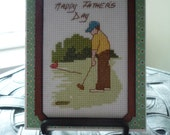 "It's ""Par"" For The Day, Hand Stitched Card"