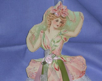 Fairy Princess Ornament Flowers Petals Crushed Tulle Skirt