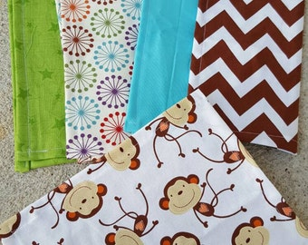 Lunch box cloth napkins- the monkey set