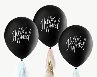 Baby Gender Reveal Balloons // Hello World