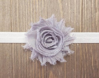 Newborn Headband, Baby Headband, Girls Headband, Gray Flower Headband, Newborn Photo Prop, Infant Headband, Child Headband