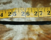 "Vintage Black Velvet Ribbon 1/4"" Wide, Listing is for One Yard, 18 Yards Available"