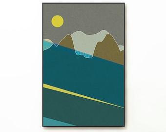 LANDSCAPE & BEYOND no.270 - Abstract Modern Minimalist Landscape Mid Century Style Art Print